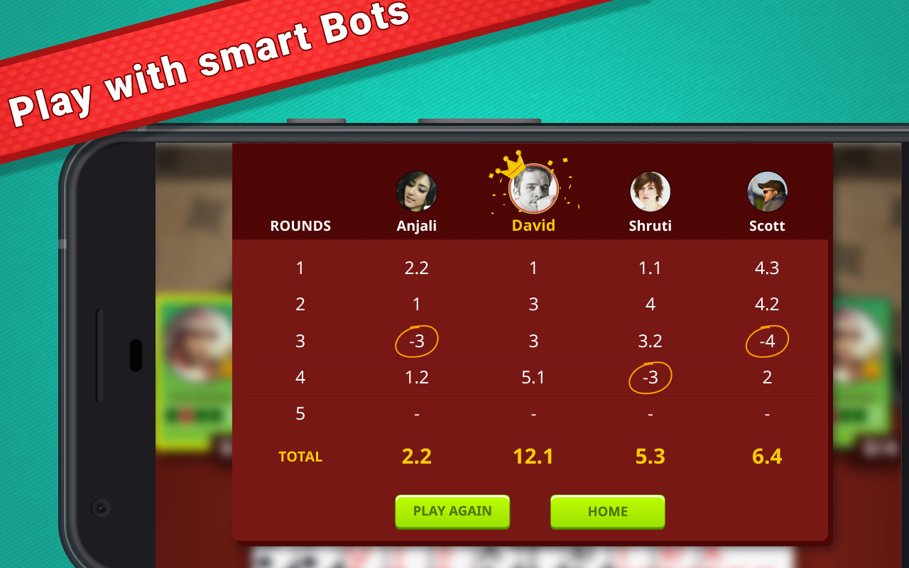 Play CallBreak with the smart bots